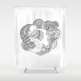 Moon Patterns Shower Curtain