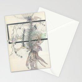 rose-Fish-bone dinosaur Stationery Cards