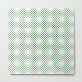 Peapod Polka Dots Metal Print