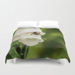 Bumblebee in the campanula Duvet Cover