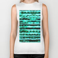 turquoise Biker Tanks featuring Turquoise by allan redd