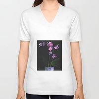 orchid V-neck T-shirts featuring Orchid by Daria Krol