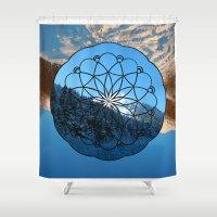 alaska Shower Curtains featuring Reflection Alaska by Susan Gottardi