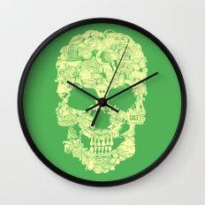 Clip Art Skull Wall Clock