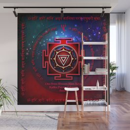 Kali Yantra with the Great Fifteen-Syllable Mantra Wall Mural