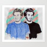 pewdiepie Art Prints featuring Pewdiepie by Ethan Raney Jarma