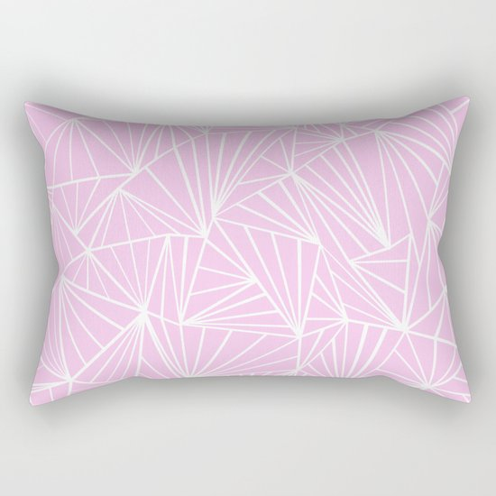 Ab Fan Pink Rectangular Pillow