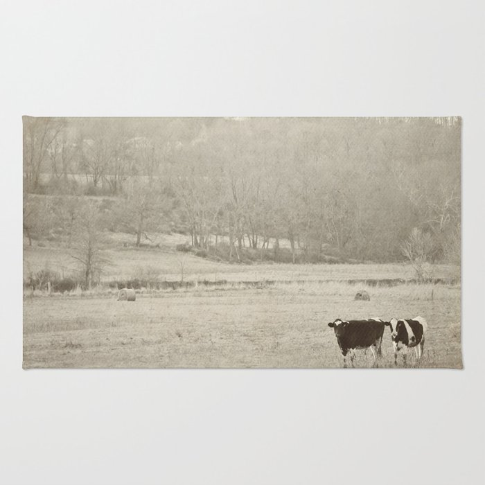 How now two cows  Rug