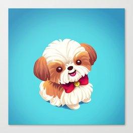 Shih Tzu Love Canvas Print