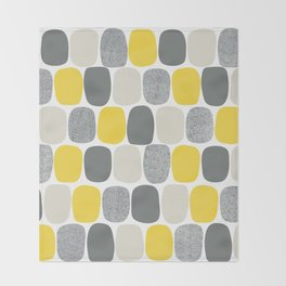 Wonky Ovals in Yellow Throw Blanket