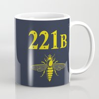 221b Mugs featuring 221B(ee) by sirwatson