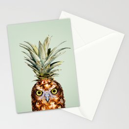PINEAPPLE OWL Stationery Cards