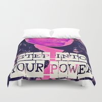 power rangers Duvet Covers featuring Power by Cullen Rawlins
