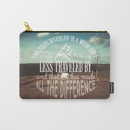The Road Not Taken book quote Carry-All Pouch
