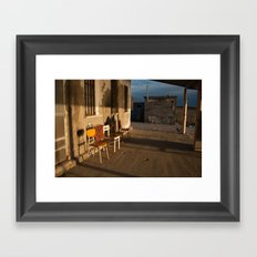 LONELY CHAIRS #7 Framed Art Print