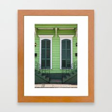 Green Creole Cottage Framed Art Print