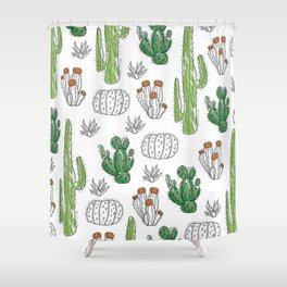 Cacti or Cactuses? Shower Curtain