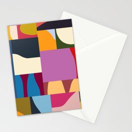 Ypres 02 Modern Mosaic Collage In Bright Hues Stationery Cards