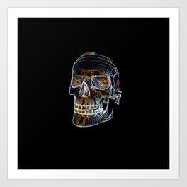 NEON SKULL/1 Art Print