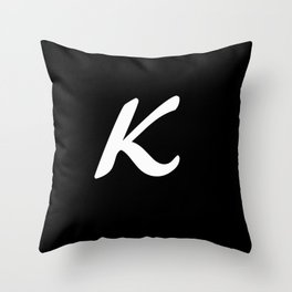 Alphabet ....K Throw Pillow