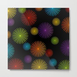 Colorful Christmas snowflakes pattern- holiday season gifts- Happy new year gifts Metal Print