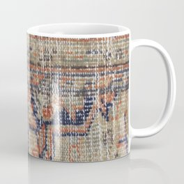 Vintage Woven Navy Blue and Tan Kilim  Coffee Mug