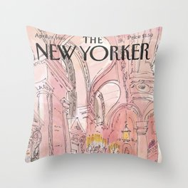 The New Yorker - 04/1986 Throw Pillow