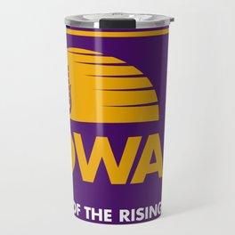 Iowa: Land of the Rising Corn - Purple and Gold Edition Travel Mug