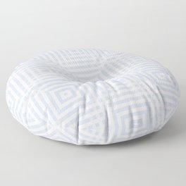 New pale blue-gray plaid Floor Pillow