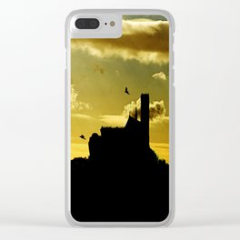 Castle in a golden sky Clear iPhone Case