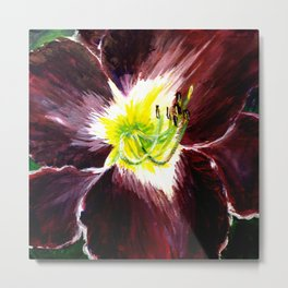 Purple with Yellow Center Daylily Metal Print
