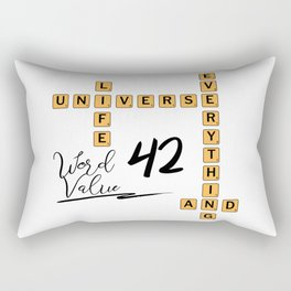 Life Universe and Everything Scrabble 42 Rectangular Pillow
