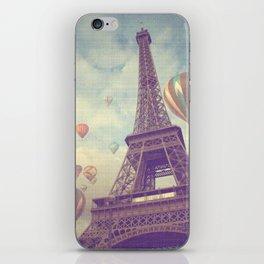 Balloons over Paris iPhone Skin