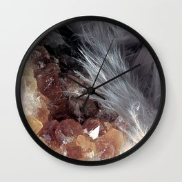 Citrine & Feathers Wall Clock