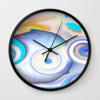 calendars Wall Clocks featuring Time by Geni