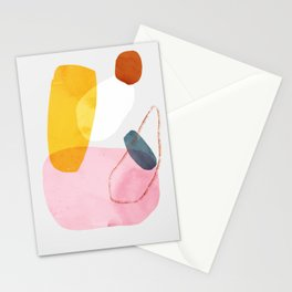 abstract dog Stationery Cards