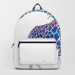 Blue Giraffe Backpack