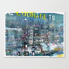 Courage Wall Canvas Print