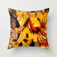 carnival Throw Pillows featuring Carnival by Trevor Jolley