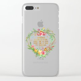Christmas is love in action Clear iPhone Case