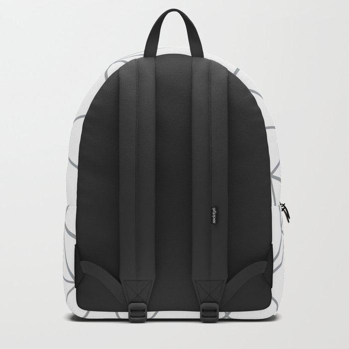 Ab Outline 2 Grey on White Backpack