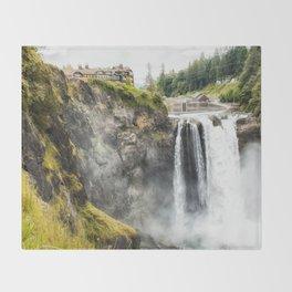 Snoqualmie Falls, Washington State Throw Blanket