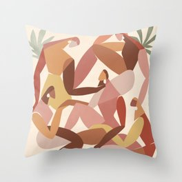 Girl squad Throw Pillow