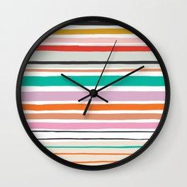 Happy stripes make me smile Wall Clock