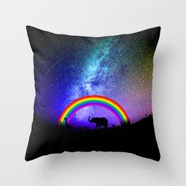 Rainbow Migration Throw Pillow