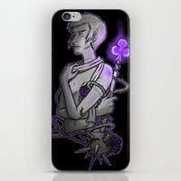 asexual iPhone & iPod Skins featuring Ace of Clubs by Kieran Thompson