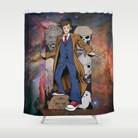 doctor who Shower Curtains featuring Doctor Who by David G. Wagner