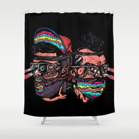 bass Shower Curtains featuring Bass Brothers Album cover  by Vasco Vicente