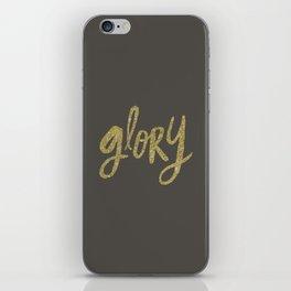 Glory Grey and Gold iPhone Skin