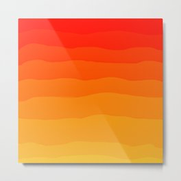 Warm Fall Gradient - Scarlet, Pumpkin, Gold Metal Print